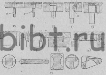 Пуансоны для пробивки отверстий и вырубки и способы их крепления в верхней части штампа
