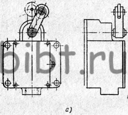 Путевой выключатель мгновенного действия ВК-211.  Кинематическая схема механизма с автоматическим регулированием...