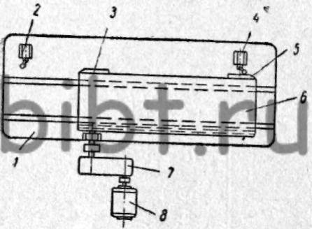 Кинематическая схема механизма с автоматическим регулированием возвратно-поступательного движения стола.