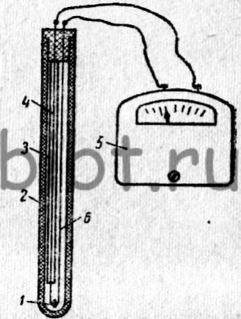 Схема термопары.