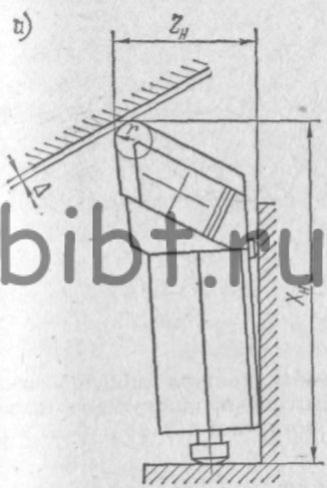 Координаты опорных точек режущего инструмента