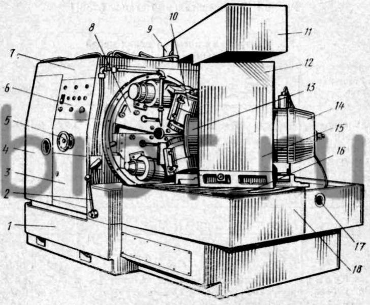 Зубофрезерный станок 5С267П.