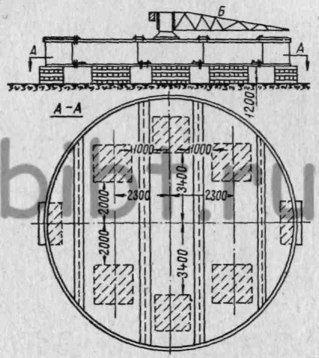 Фиг.  294. Схема монтажа опорной рамы шагающего экскаватора ЭШ-14/75.