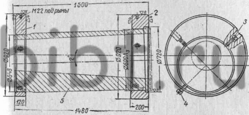 Схема установки колец для