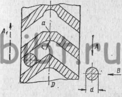 Схема нарезания шевронных