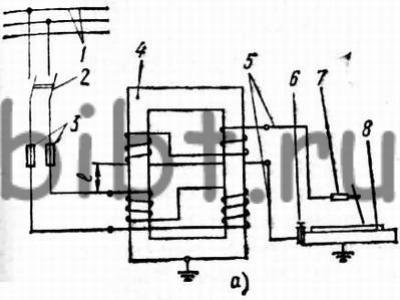 трансформатору 4, где ток