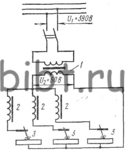 Схема многопостовой сварки от трансформатора с жесткой характеристикой.  Трехфазные сварочные трансформаторы.