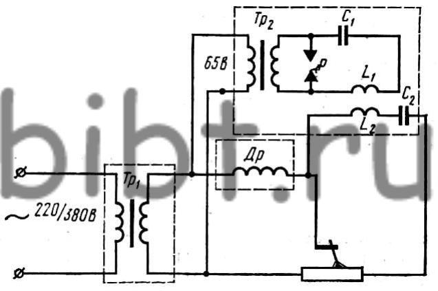 Схема включения осцилляторов