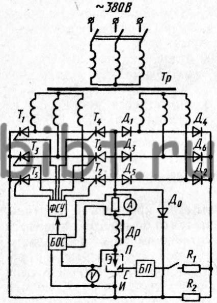 схема тиристора - Схемы.