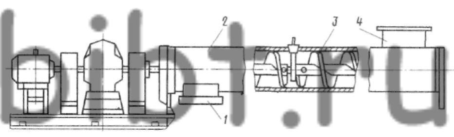 Схема Винтового Конвейера Его