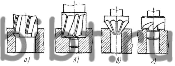 Схема обработки отверстии