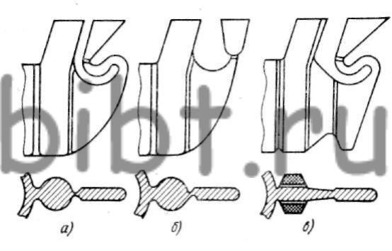 Три варианта схем литниковой