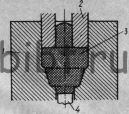 Схема штамповки выдавливанием