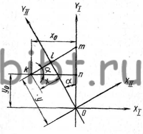 Расчетная схема для определения координат обработки плоскости и отверстия под углом к оси планшайбы при установке...