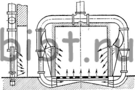 Схема воздушной тепловой