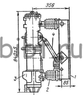 Выключатель ВМП-10, вид сбоку