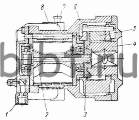 Принципиальная схема конструкции гайковерта приведена на рис. 91.  Работает гайковерт следующим образом.